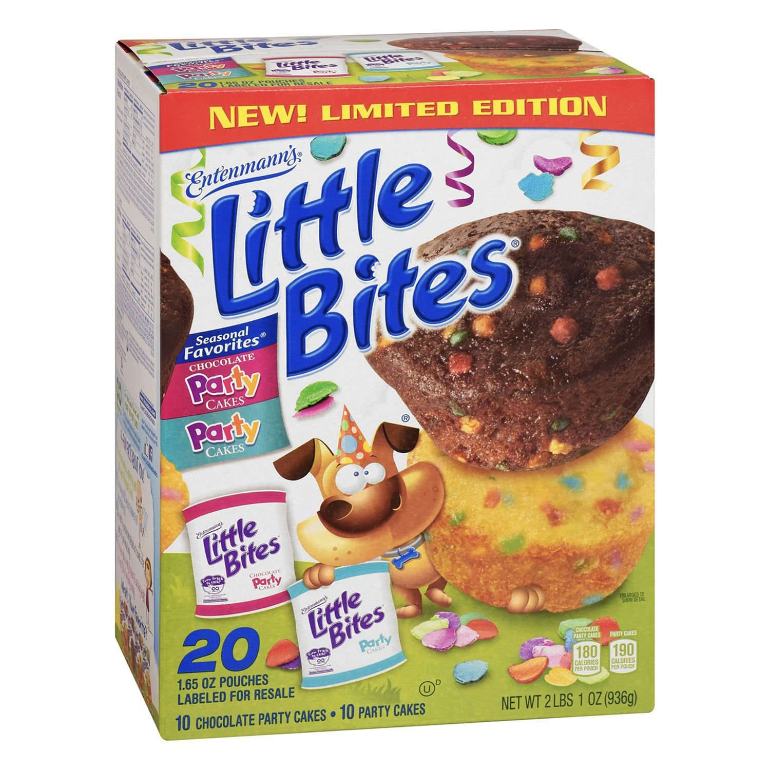 Entenmann's Little Bites Chocolate and Yellow Party Cake Muffins (20 ct.)