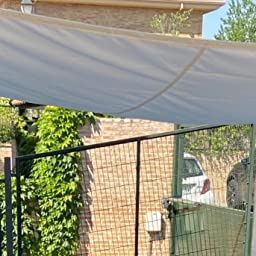 Cool Area Toldo Vela de Sombra Cuadrado 3 x 3 Metros, Impermeable Protección UV para Patio Exteriores Jardín, Color Gris: Amazon.es: Jardín