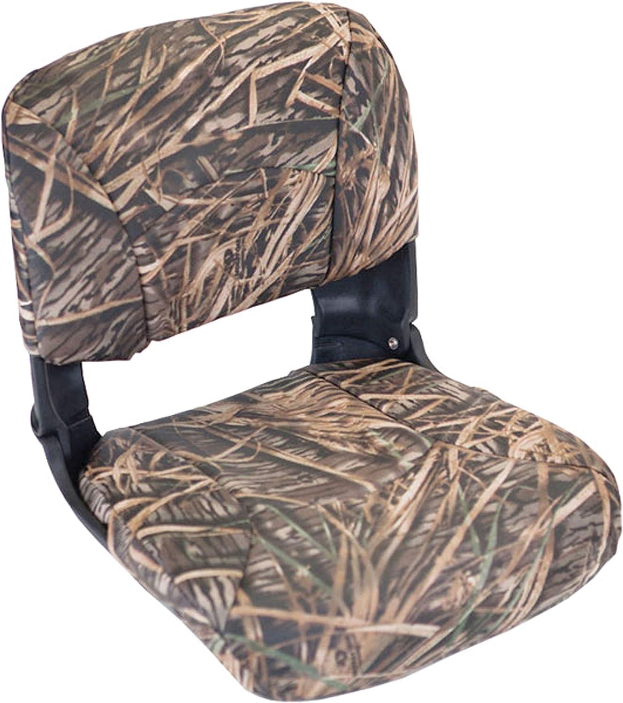 Black Seat//Mossy Oak Shadow Grass Cushion Vinyl Tempress All Weather High Back Seat