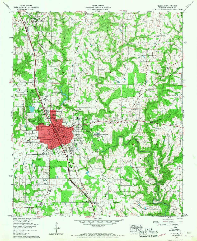 Amazon.com : YellowMaps Cullman AL topo map, 1:24000 Scale ...