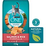 Purina ONE Natural Dry Cat Food, Salmon and Rice 7.2kg Bag