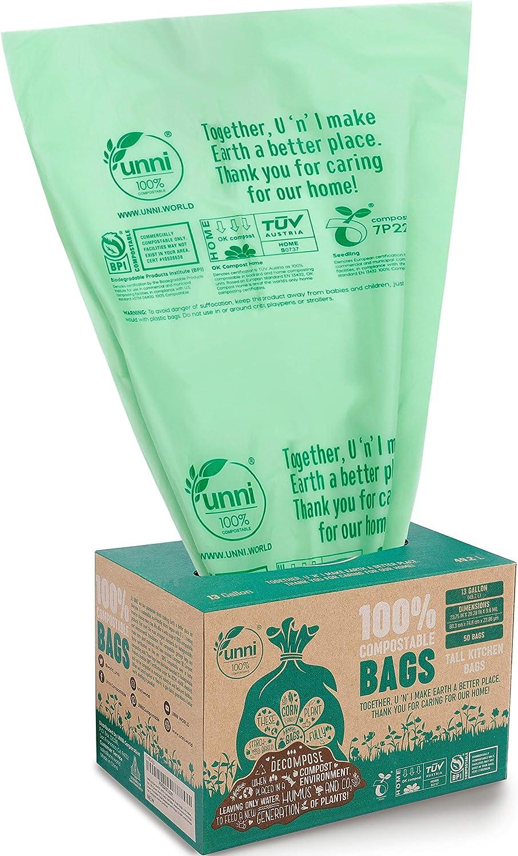 Unni 100% Compostable Trash Bags