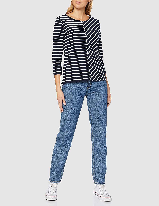 Gerry Weber T-Shirt Donna Strisce Blu / Ecru / Bianco.