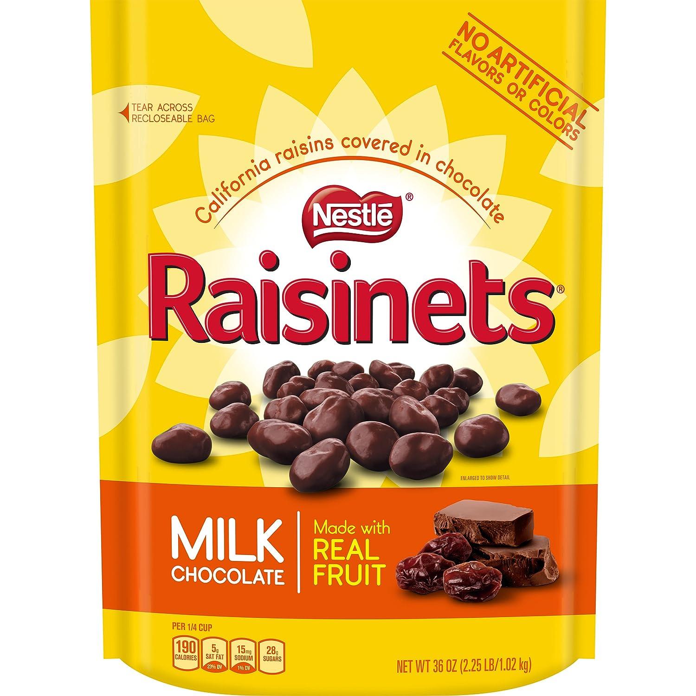Amazon.com : Nestle Raisinets Milk Chocolate Large Resealable Bag ...