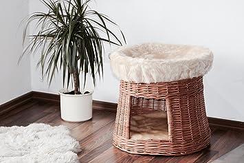 Gatos de cesta Torre, gato Cesta de gato, cama, 55 x 55 x 50 cm, dormir Espacio en dos unidades Stock: Amazon.es: Productos para mascotas