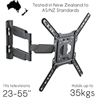 """Black Dot TV Wall Mount, 23""""-55"""" with Canteliver. Holds up to 35kg, Vesa mounting up to 400 x 400, 10 Year gaurantee, Tested to AS/NZ standards."""