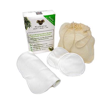 Nabeca - 10 almohadillas de desmaquillado reutilizables con paño ...