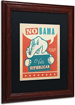 Amazon Com No Bama Canvas Art By Anderson Design Group 11 By 14 Inch Black Matte With Wood Frame Wall Art