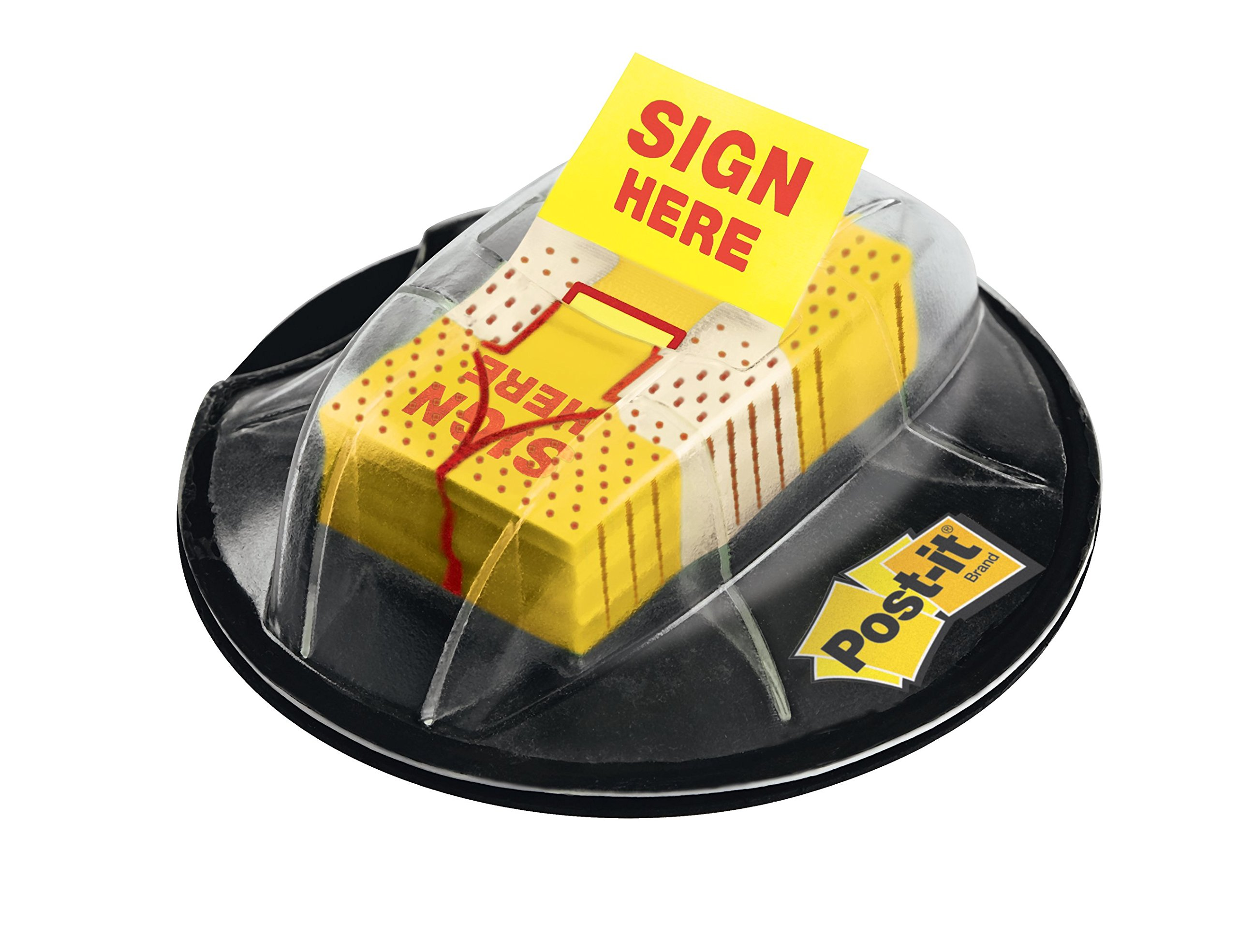 Post-it Flags,''Sign Here'', Yellow, 1-Inch Wide, 200/Dispenser (680-HVSH)