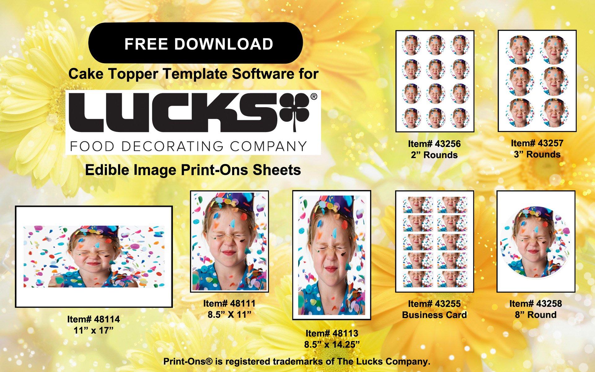Lucks 48111 / 41100 8.5'' x 11'' Edible Image Print-Ons Sheets (12 sheets per pack) by Lucks (Image #3)