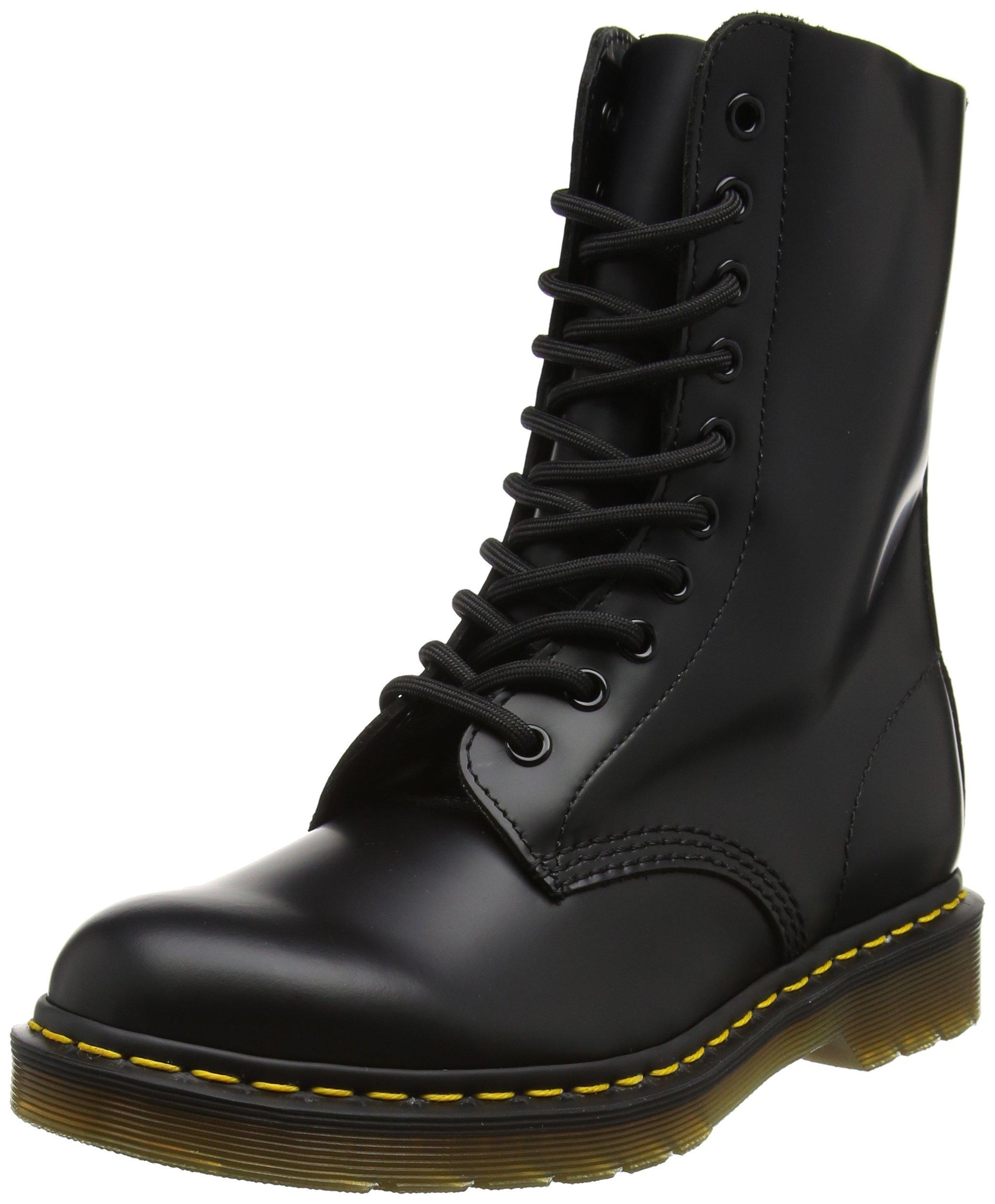 Dr. Martens Original 10 Eye Boot,Black Smooth,7 UK (US Men's 8 M/Women's 9 M)