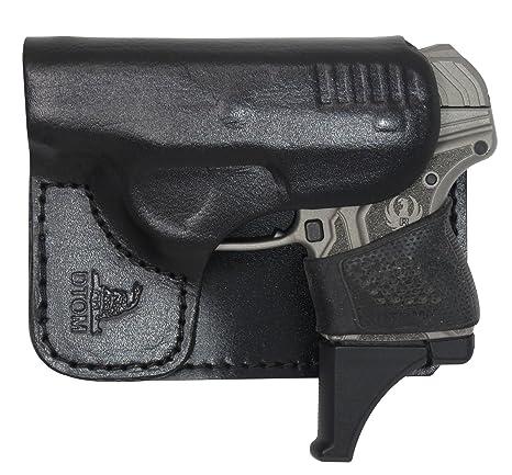 BP4 Full Grain Back Pocket Leather Molded Ruger LCP Wallet Holster
