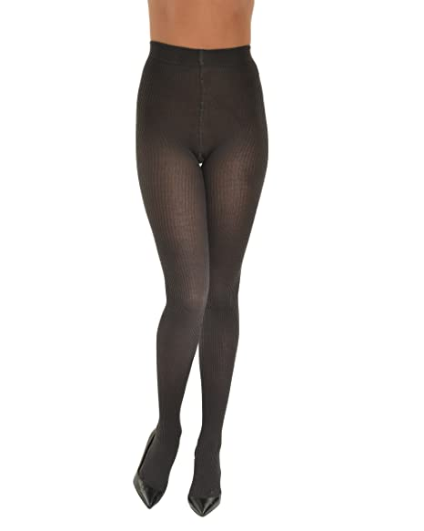 b6eb075face Graphite Grey Merino Ribbed Opaque Tights Womens Fashion Tights Made in  Italy Sizes  Small
