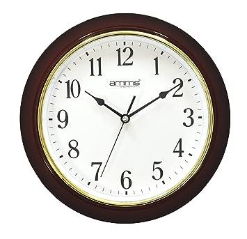 Amms GD260006 - Reloj de pared grande, llamativo, clásico, tradicional, movimiento continuo silencioso, cuarzo: Amazon.es: Hogar