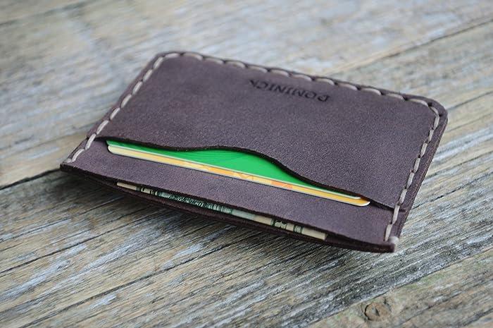 774ac95bc8972a Portafoglio in pelle PERSONALIZZATO. Viola portacarte di credito, contanti  o carta d'identità