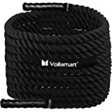 Voilamart 9m /12m/15m 38mm Battle Rope Body Strength Training Sport Exercise Gym Fitness Bootcamp Battling Power Rope