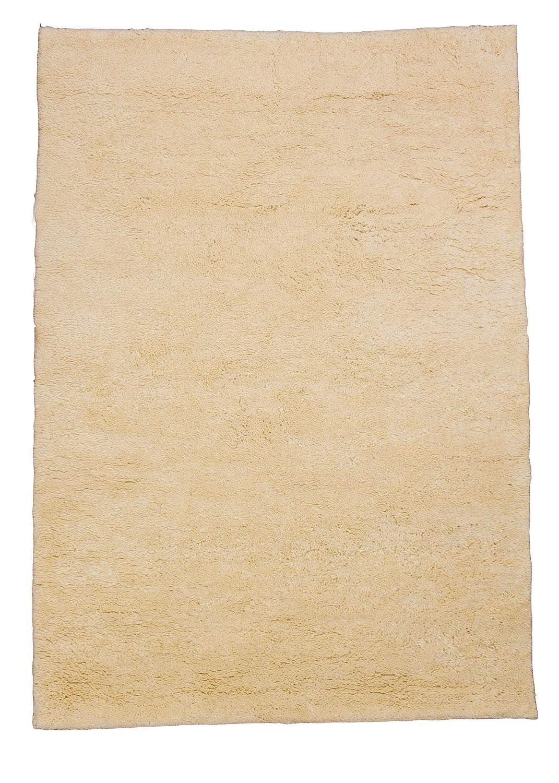 Berber Teppich natur aus 100% Schurwolle Rabat 15 15 simple Wollweiss in 27 Größen, Größe  90x160 cm