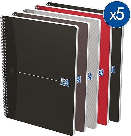 Oxford Essentials - Lote de 5 cuadernos de espiral (A4, cuadrícula ...