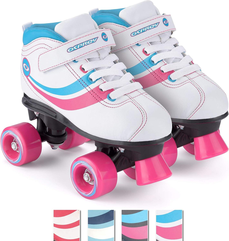 Chica Toyrific - Patines Retro, color Blanco White/Blue/Pink/Black, talla 32: Amazon.es: Deportes y aire libre