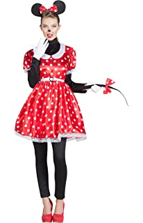 Disfraz para mujer de Minnie Mouse de Disney con vestido de ...