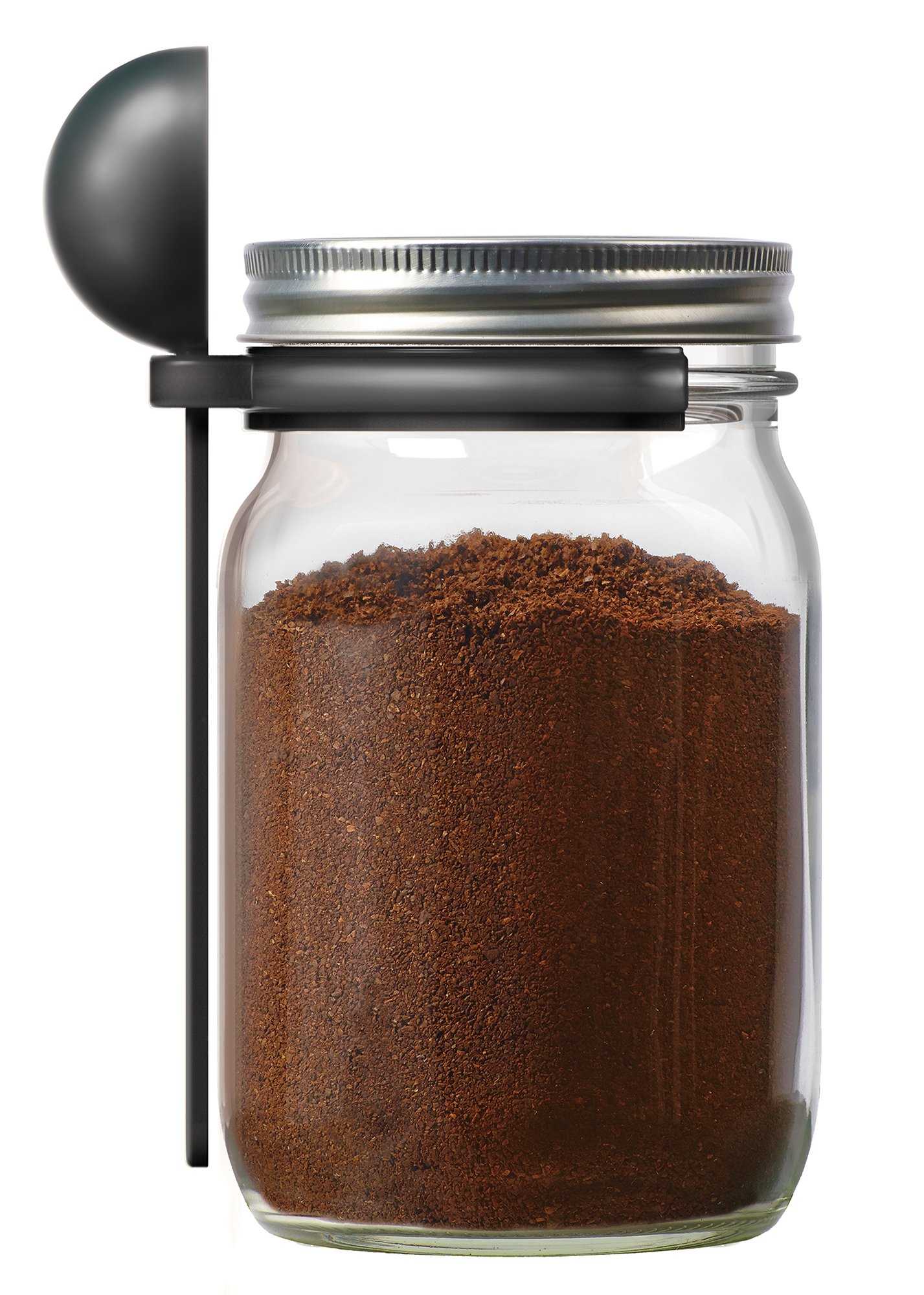 Jarware 82652 Coffee Spoon Clip for Wide Mouth Mason Jars, 6''