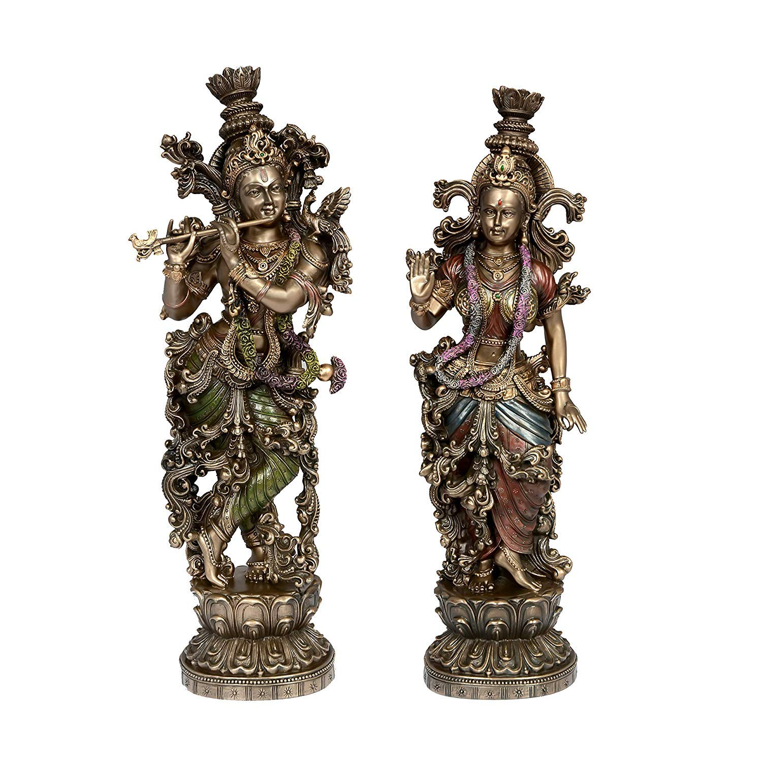 AONA Large Radha Krishna Idol - Statue Showpiece Murti for Home