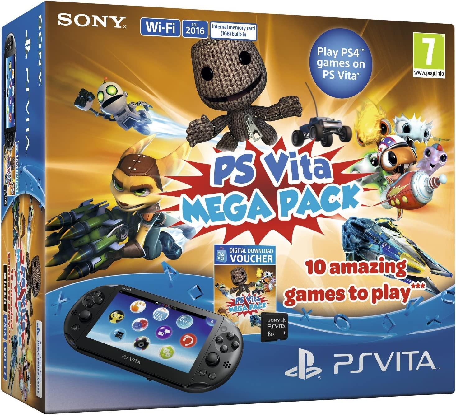 Sony Playstation Vita Console with 10 game Mega Pack on 8 GB ...