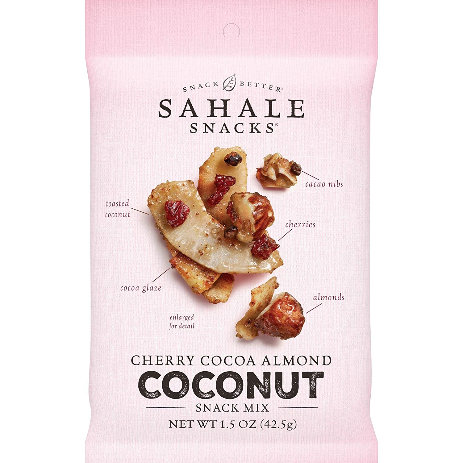 Sahale Snacks Cherry Cocoa Almond Coconut Snack Mix, 1.5 Ounces (Pack of 18)