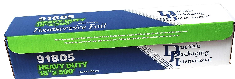 Durable Heavy Duty Aluminum Foil Roll, 18 Width x 500' Length