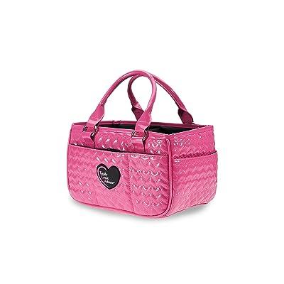 TGA Glossy Hot Pink Heart Ice Skating Bag Tennis Gym and Ballet Girls Athletic Bag