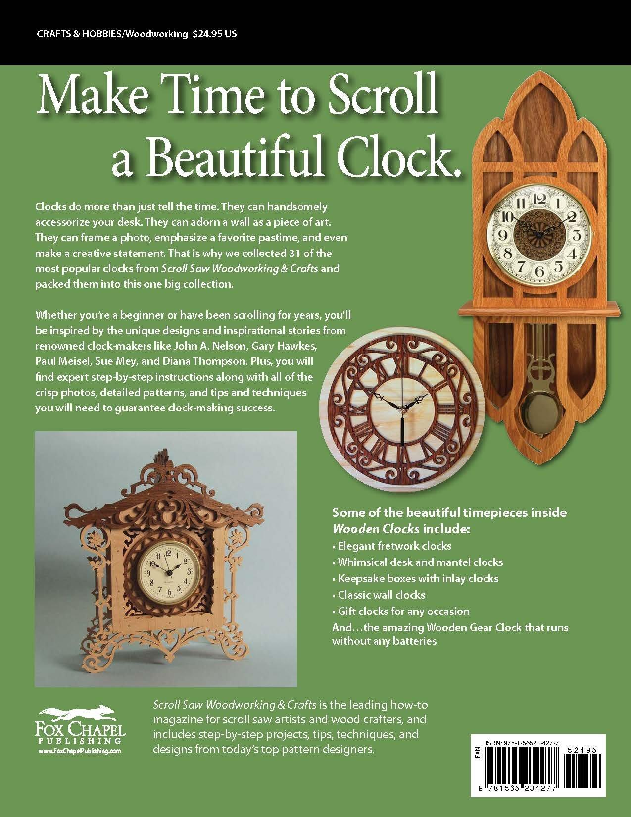 Wooden Clocks: 31 Favorite Projects U0026 Patterns (Scroll Saw Woodworking U0026  Crafts Book): Editors Of Scroll Saw Woodworking U0026 Crafts: 9781565234277: ...