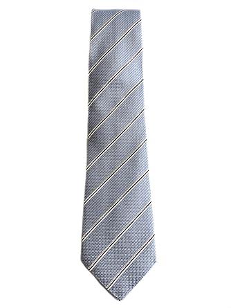 Armani Collezioni Cravate en soie bleu clair et blanc motif rayé ... 5e4abffa0b0
