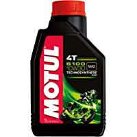 Motul 104062 5100 4T Hybrid 10W-30 API SM Technosynthese Semi Synthetic Engine Oil for Bikes (1 L)
