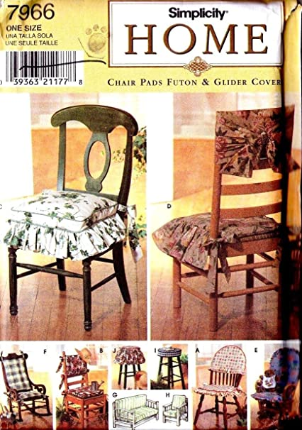 Peachy Simplicity Home Pattern 7966 Chair Pads Futon And Glider Covers Spiritservingveterans Wood Chair Design Ideas Spiritservingveteransorg