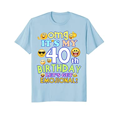 Amazon Mens Its My 40th Birthday Funny Emoji T