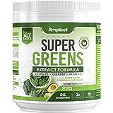Super Greens - 270g Super Food Green Juice Organic Blend - Fruit and Vegetable Powder Supplement w/ Probiotics - Non-GMO Orga