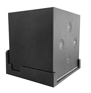 Dot Genie Easy Hanging Fire TV Cube Wall Mount  Lowest Profile  Totally  Hides Cords  Improves Microphone Response  Improves Visibility  Quick  Install