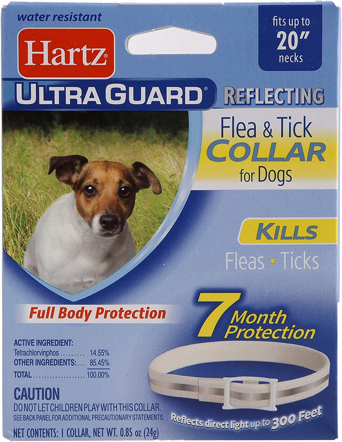 Hartz UltraGuard Reflecting Flea & Tick Collar for Dogs and Puppies 1 ea, Reflective, Dogs and Puppies up to 20