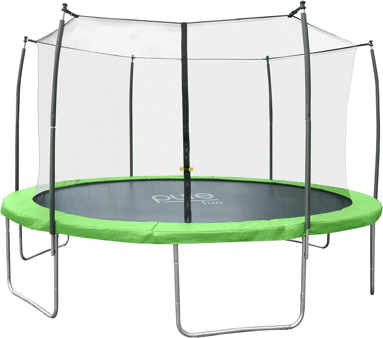 Pure Fun Dura Bounce Outdoor Trampoline With Enclosure