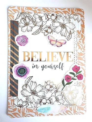 Carte Scrapbooking à Messagebelieve In Yourself Plus