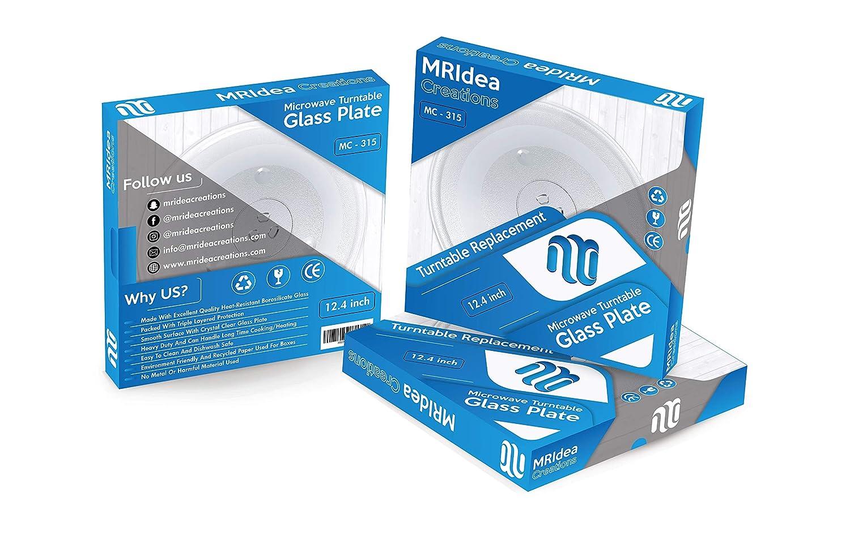 Plato giratorio de cristal para microondas, 315 mm, repuesto de ...