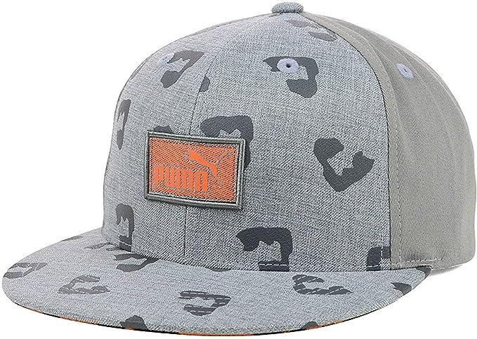 Amazon.com  Puma Leopard Animal Print Flatbill Snapback Cap Hat (One ... 27f37728852