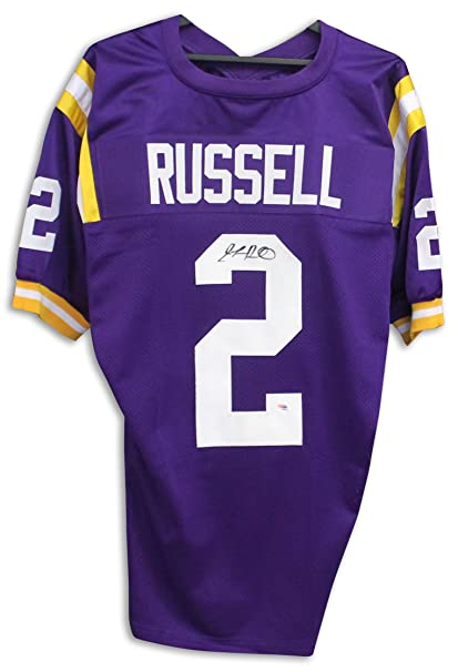 c12a76142 JaMarcus Russell LSU Tigers Autographed Purple Jersey -APE COA at ...