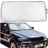 Sumex SilverSun Car Front Windscreen Folding Sun Block Shade with Bag (Extra Large (80 x 150cm))