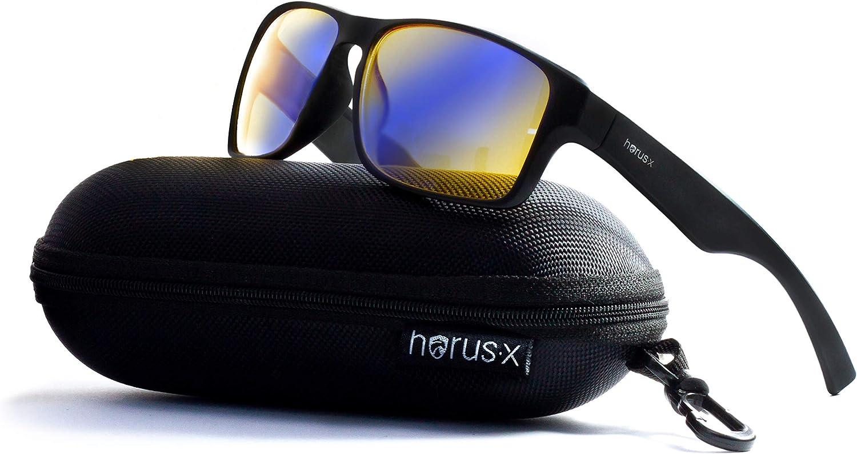 Horus X - Gafas Gaming para Ordenador - Gafas Filtro Azul [90-95%] - Gafas Bloque Azul
