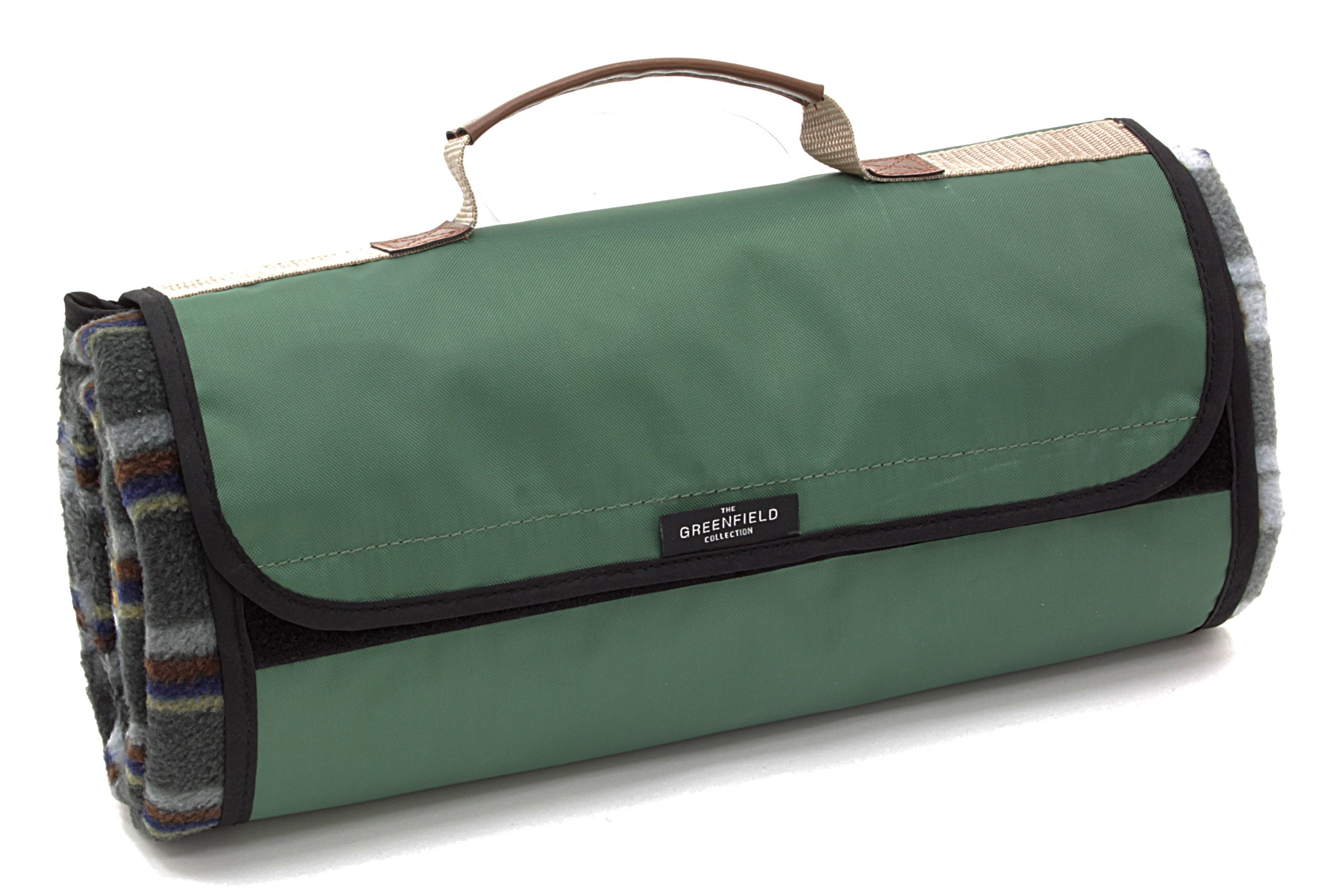 Greenfield Collection Moisture Resistant Luxury Picnic Blanket, Forest Green Plaid by Greenfield Collection