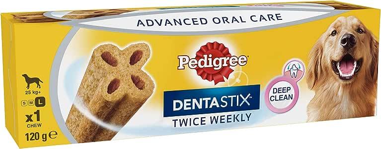 PEDIGREE DENTASTIX Twice Weekly Large Dog Treat, 6 Count