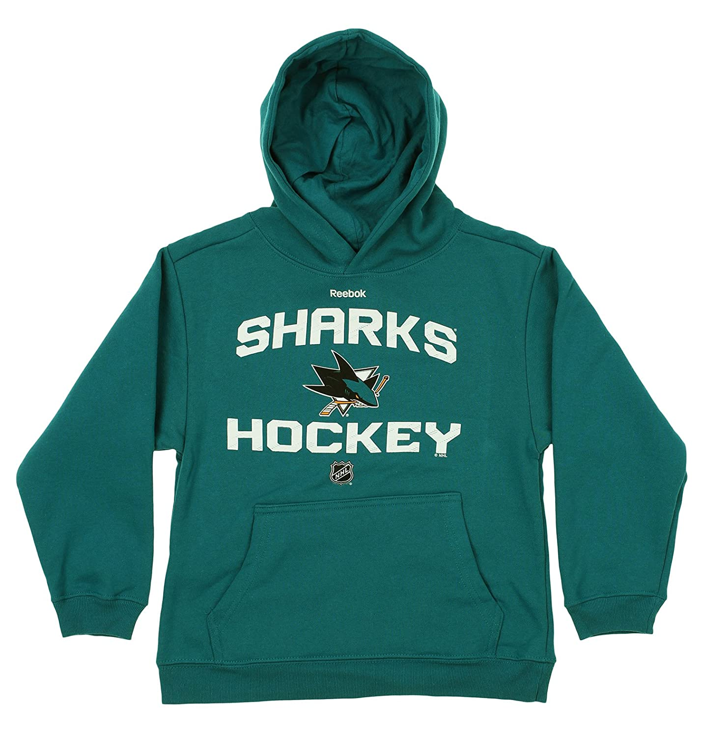 Outerstuff NHL Youth Boys San Jose Sharks Team Logo Hoodie, Teal