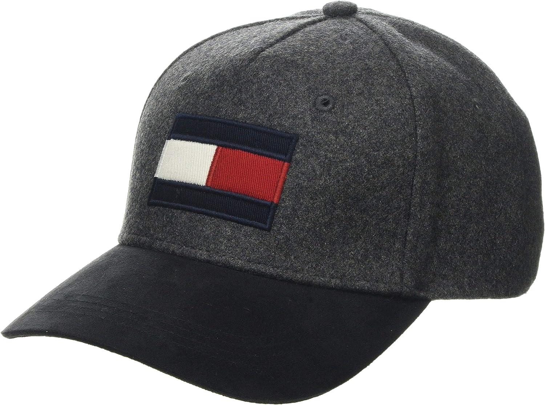 One Size Tommy Hilfiger Mens Logo Baseball Adjustable Cap; Black
