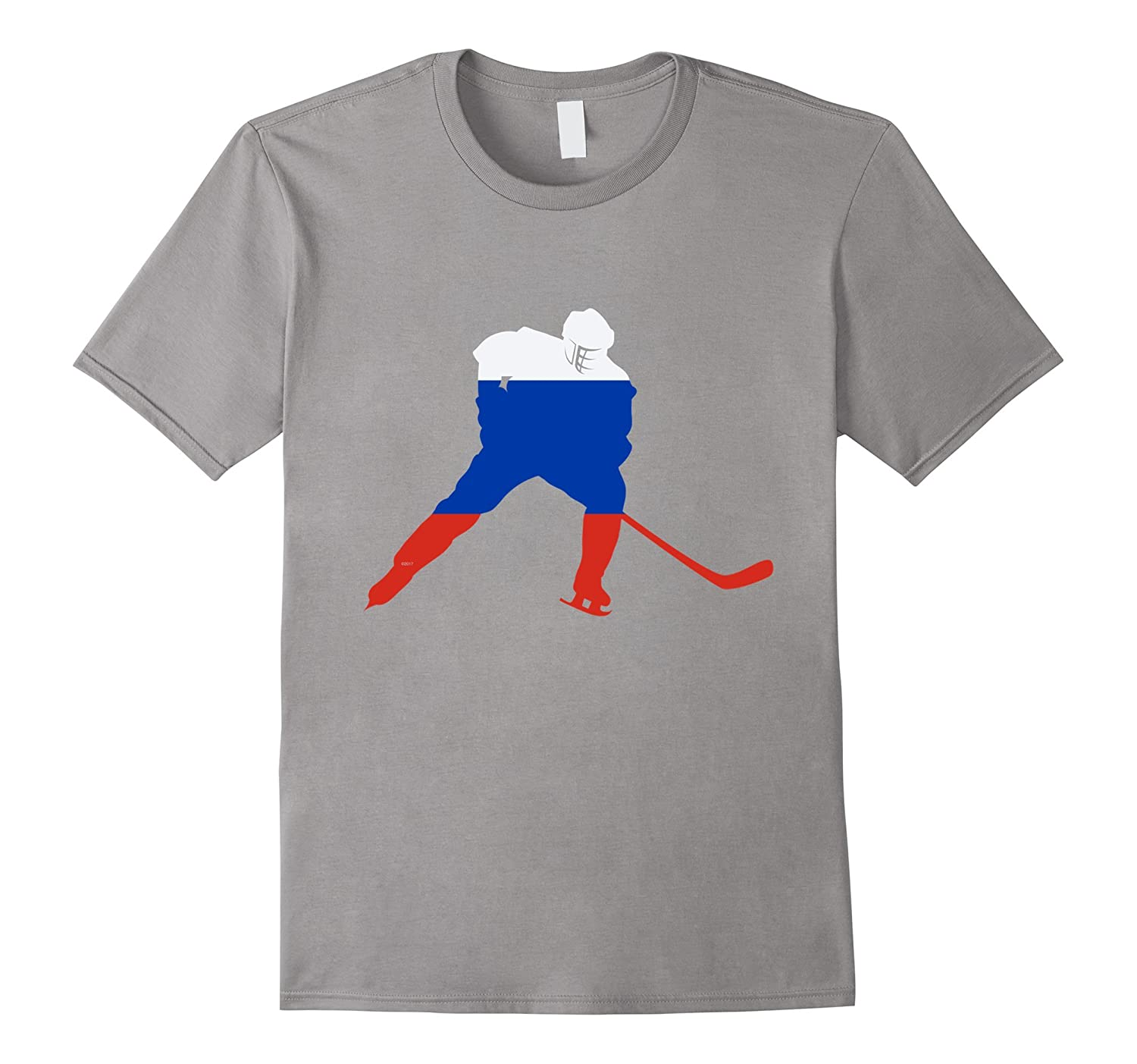 Russia Ice Hockey Shirt Russian Player Love Team Stick Puck-Vaci